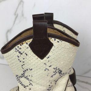 Donald J. Pliner Shoes - Donald Pliner Snake Skin Print Booties Western 6